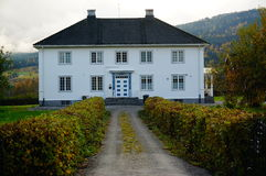 White brick house, Norway Royalty Free Stock Images