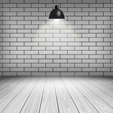 White brick room Stock Image
