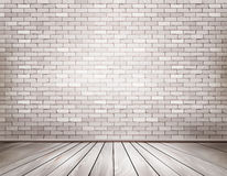 White brick room. Royalty Free Stock Photography