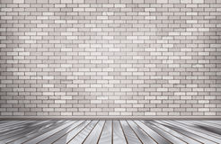White brick room. Vector. Royalty Free Stock Images