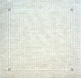 White brick square border wall background texture Royalty Free Stock Photos