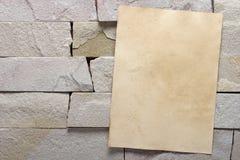 White brick stone exterior and interior decoration building mate Stock Image