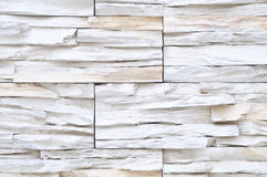 White brick stone wall decor Royalty Free Stock Image