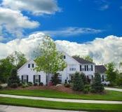 White Brick Suburban Home stock images