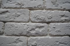 White brick texture. Wallpaper. royalty free stock photography