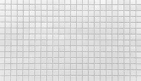 White brick tile wall texture and background Stock Photos