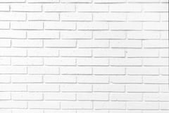 White brick wal. L, perfect as a background, square photograph Royalty Free Stock Photo