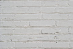 White brick wall. Detail of a brick wall painted white Stock Photo