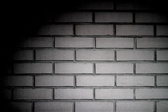 White brick wall. With shadow stock photos