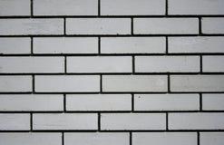 White brick wall. White brick textured wall with geometric pattern Stock Photography