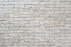 White Brick Wall. This is a unusual brick wall made of pale white bricks Royalty Free Stock Photo