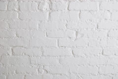 White brick wall. The white brick wall background Royalty Free Stock Photo