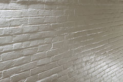White Brick Wall. Old white painted brick wall Royalty Free Stock Images