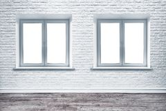 Free White Brick Wall And Plank Wood Floor. Stock Photography - 125913832