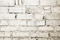 White brick wall background Stock Photography
