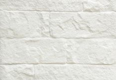 White brick wall background Stock Image