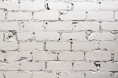 White brick wall background. The White brick wall background Royalty Free Stock Photography