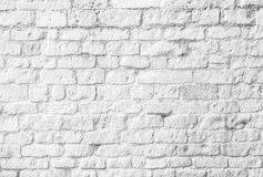 White brick wall. Background or backdrop Royalty Free Stock Photography