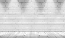 White brick wall background Royalty Free Stock Photos