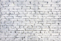 White brick wall background Royalty Free Stock Photos