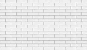 White brick wall background repeatable Royalty Free Stock Image