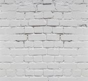 White brick wall background in rural room, Royalty Free Stock Images