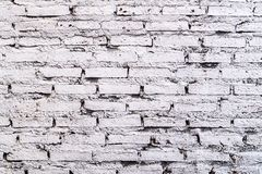 White brick wall background in rural room.White Gray Bricks Wall Pattern.background idea.  royalty free stock images