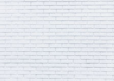 White brick wall for background Royalty Free Stock Images