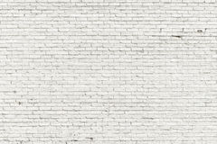 White brick wall. For background or texture Royalty Free Stock Photography