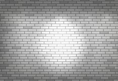 White brick wall for background or texture Stock Images