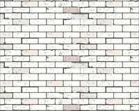 White brick wall for background or texture Royalty Free Stock Image