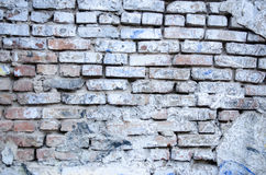 White brick wall for background or texture Royalty Free Stock Images