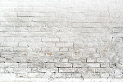 White brick wall for background or texture Stock Image