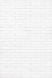 White brick wall background texture Stock Photography