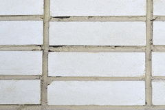 White brick wall background. Wall from a white brick background unusual large Stock Photo