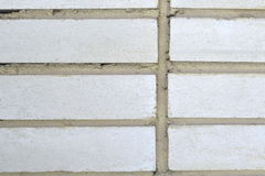 White brick wall background. Wall from a white brick background unusual large Royalty Free Stock Image