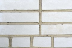 White brick wall background. Wall from a white brick background unusual large Stock Photography