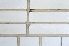 White brick wall background. Wall from a white brick background unusual large Royalty Free Stock Photos