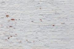 White brick wall background. Whitewash flat brick wall horizontal background texture Royalty Free Stock Photos