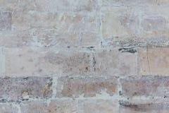 White brick wall background. Whitewash brick wall horizontal flat texture background Stock Image