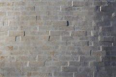 White brick wall background. Whitewash brick wall horizontal background with side sunlight Stock Images