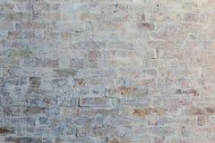 White brick wall background. Whitewash brick wall horizontal texture flat background Stock Photography