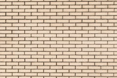 White brick wall with black mortar Stock Photos