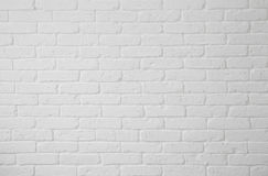White brick wall. Blank white brick wall texture with copy space Royalty Free Stock Photos