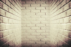 White brick wall, brown toned, abstract background photo Stock Photography