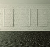 White brick wall classical Stock Photo
