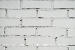 White brick wall with copy space. For text stock image