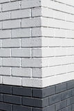 White Brick Wall corner. For background Royalty Free Stock Photo
