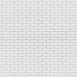 White brick wall 3D render Royalty Free Stock Photo