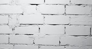 White brick wall. Dolly shot stock footage
